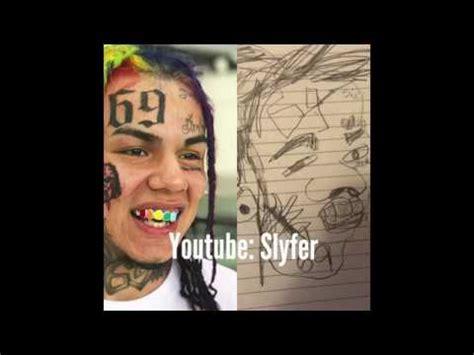 How to Draw 6ix9ine - YouTube