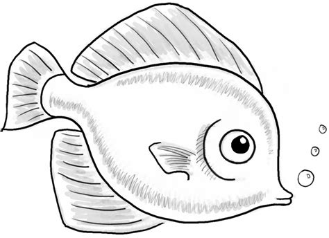 How to Draw a Cute Fish Cartoon with Simple Steps for Kids ...