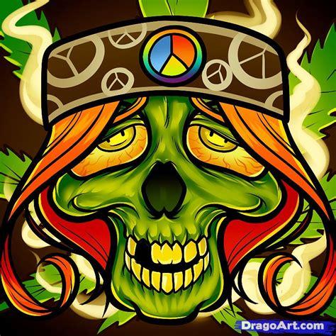 How to Draw a Hippie Skull, Hippie Tattoo, Step by Step ...