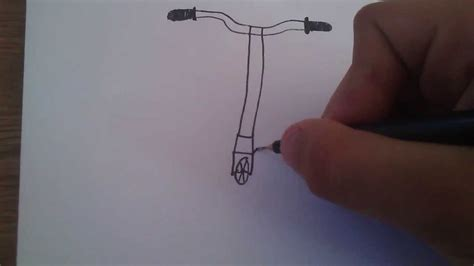 How to draw a scooter   YouTube