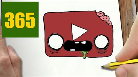HOW TO DRAW A YOUTUBE ZOMBIE CUTE, Easy step by step ...