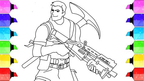 How to draw Survivalist From Fortnite Video Game Coloring ...
