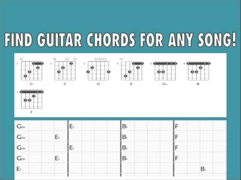 How To Find Guitar Chords For ANY SONG  With Just a ...