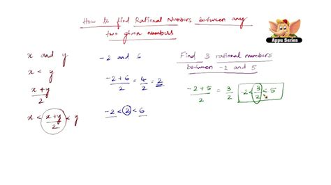 How to find rational numbers between any two given numbers ...