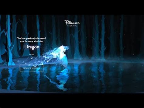 How to get a Dragon Patronus on Pottermore - YouTube