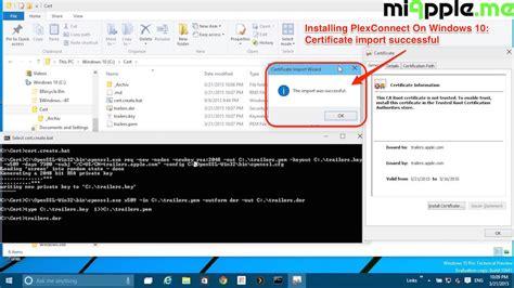 How To Install PlexConnect On Windows 10   miapple.me