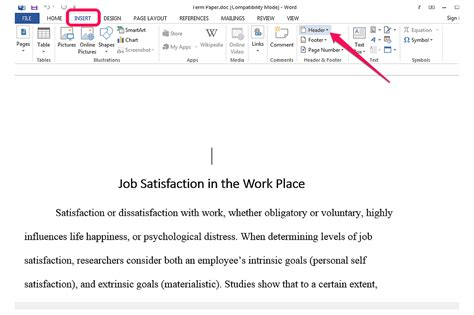 How to Make a Running Head in MS Word | Techwalla.com