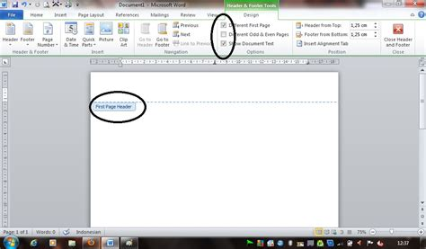 How to make Header and Footer on First Page Only Using ...