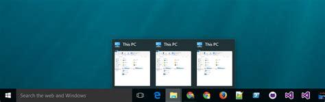 How to make Windows 10 taskbar thumbnail previews bigger ...