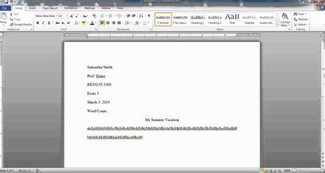 How to (MLA) Format a Document Using Microsoft Word ...