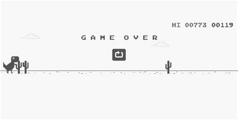 How to Play T-Rex Game on Google Chrome while being online