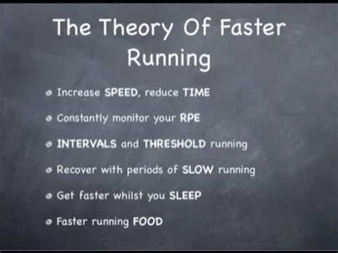 How to run faster: the theory of faster running   YouTube