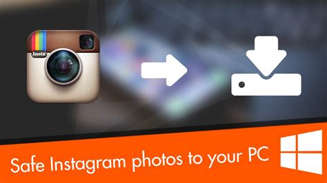 How to save Instagram photos to your PC - YouTube