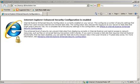 How To Turn Off Internet Explorer Enhanced Security ...