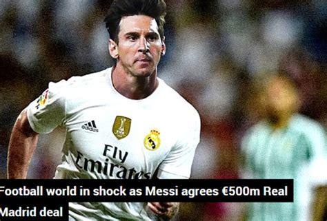 Hoy es 1 de abril y Leo Messi ficha por el Real Madrid ...