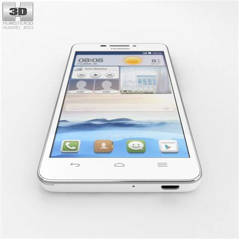 Huawei Ascend G630 White 3D model   Hum3D