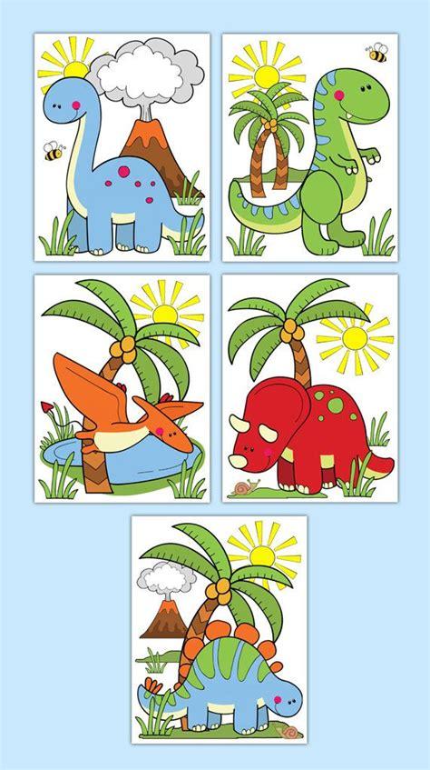 HUELLAS de dinosaurio o etiqueta pared arte niño Dino ...