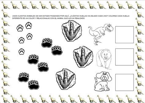 Huellas de dinosaurios para imprimir - Imagui