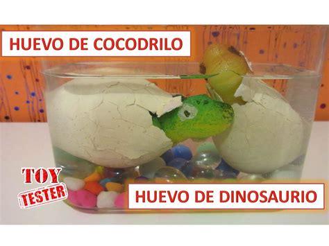 Huevo de cocodrilo y huevo de dinosaurio de juguete ...