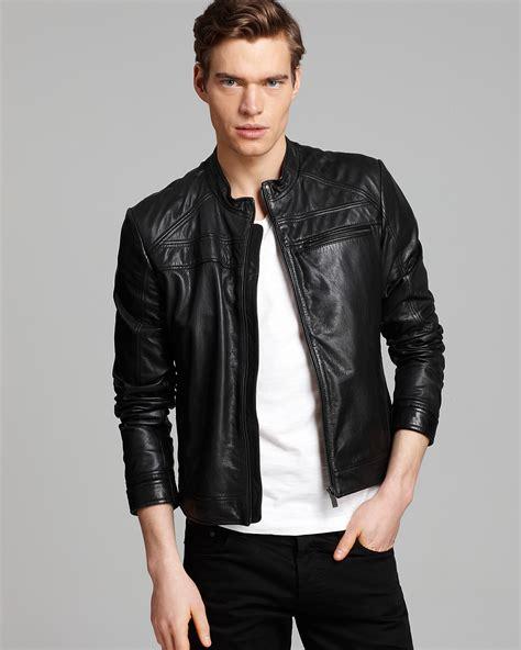 HUGO Larsson Moto Leather Jacket | Bloomingdale s