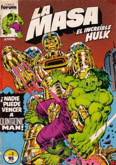 HULK (1983, FORUM) -LA MASA- 2 - Ficha de número en Tebeosfera