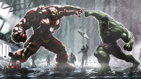 Hulkbuster Ironman Vs Hulk Wallpapers   HD Wallpapers   ID ...