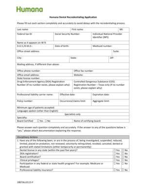 humana dental claim form Templates   Fillable & Printable ...