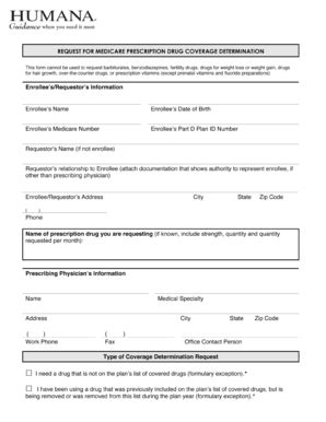 humana forms prior authorization Templates   Fillable ...