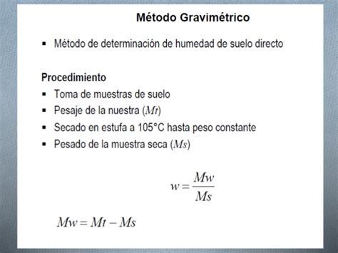 Humedad del suelo métodos directos