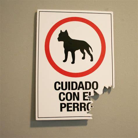 """Humor: 26 carteles de """"cuidado con el perro"""" que sin duda ..."""
