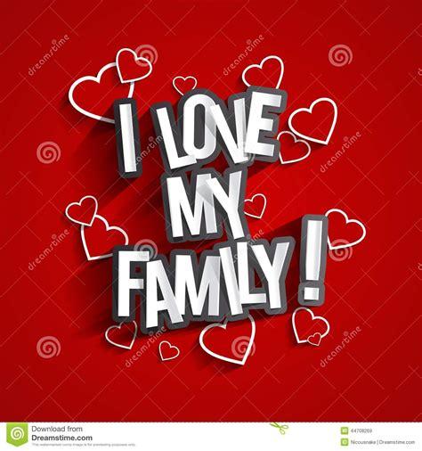 I Love My Family stock vector. Image of husband, female ...