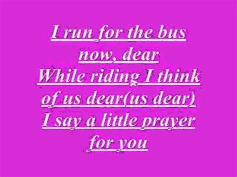 I Say A Little Prayer For You Glee Version  lyrics   YouTube