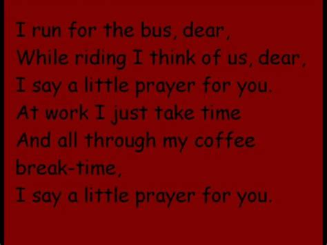 I say a little prayer for you  lyrics  on Vimeo