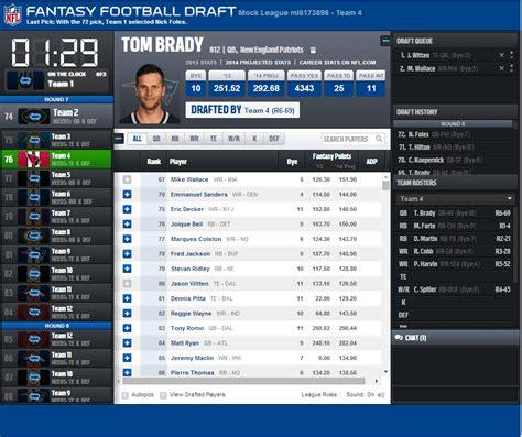 I Wanna Mock! 8 Fantasy Football Mock Draft Sites
