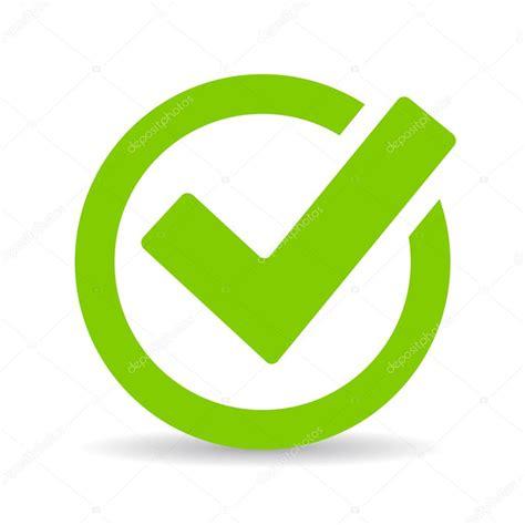 Ícone de marca de seleção verde carrapato — Vetores de ...