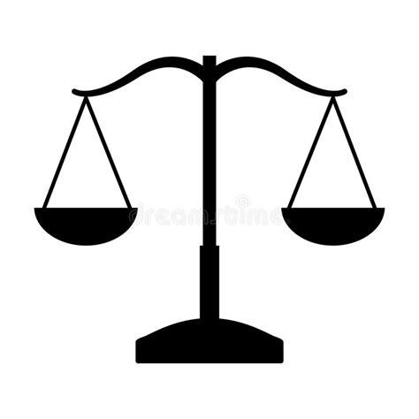 Icono Aislado Justicia De La Balanza Stock de ilustración ...