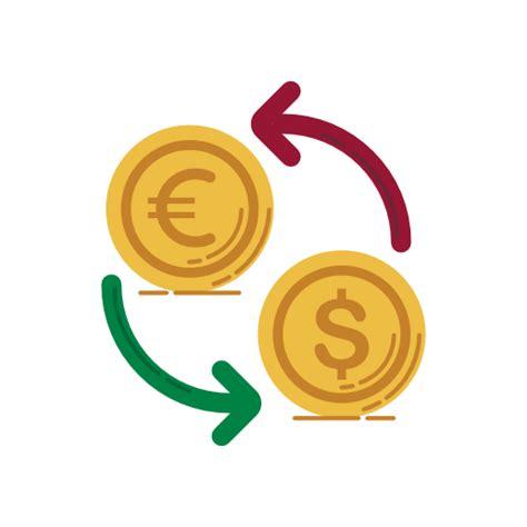 Icono Cambio, las monedas, el dolar, el euro, la moneda ...