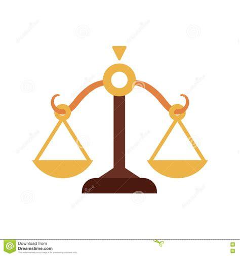 Icono De La Balanza Diseño De La Ley Y De La Justicia ...