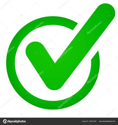icono de marck check verde sobre fondo blanco — Vector de ...