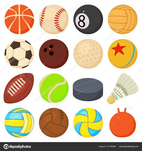 Iconos de balones deportivos defina tipos de juego, estilo ...