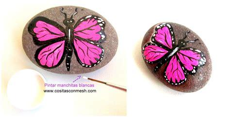 Ideas bonitas para pintar mariposas en piedras ...