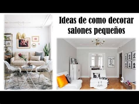 Ideas de como decorar salones pequeños   YouTube