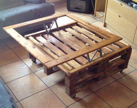 Ideas de mesas recicladas hechas con palets para el ...