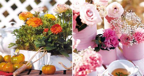 Ideas para decorar centros de mesa con flores