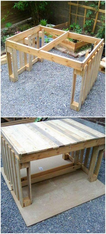 Ideas para hacer mesas con palets - La cartera rota