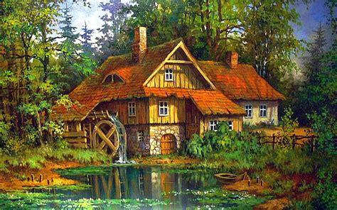 Idílico Watermill fondos de pantalla | Idílico Watermill ...
