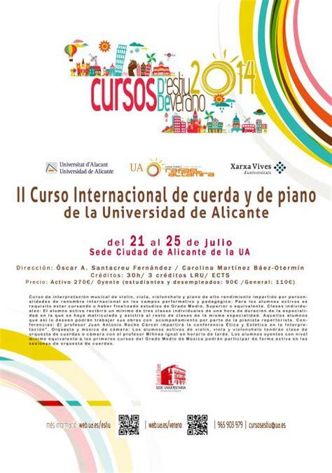 II Curso Internacional de cuerda y piano de la Universidad ...