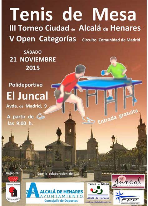 III Torneo Ciudad de Alcalá de Henares de Tenis de Mesa ...