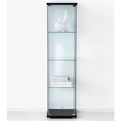 Ikea Detolf Glass Curio Display Cabinet Black, Lockable ...