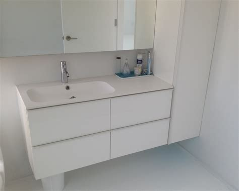 Ikea Godmorgon with different sink and wall cabinet ...